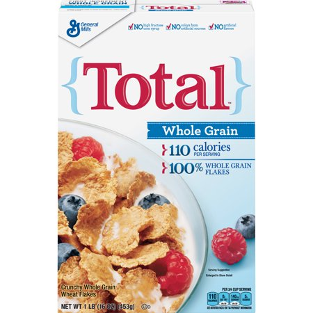 Total, Cereal, with Whole Grain Flakes, 16 oz
