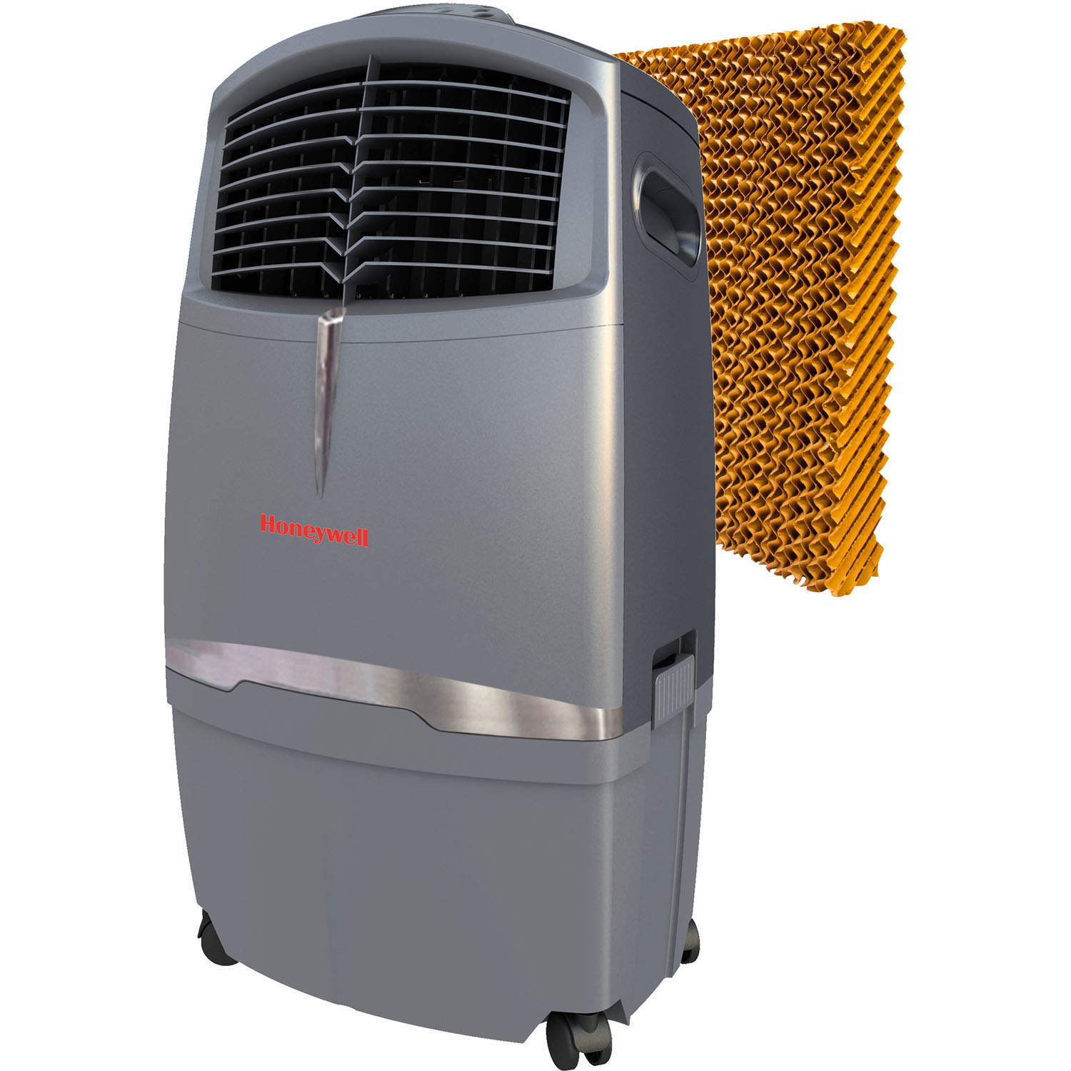 Honeywell CO30XE 525 CFM 320 sq. ft. Indoor/Outdoor Portable Evaporative Air Cooler (Swamp Cooler) with Remote Control and Bonus Replacement Filter, Gray