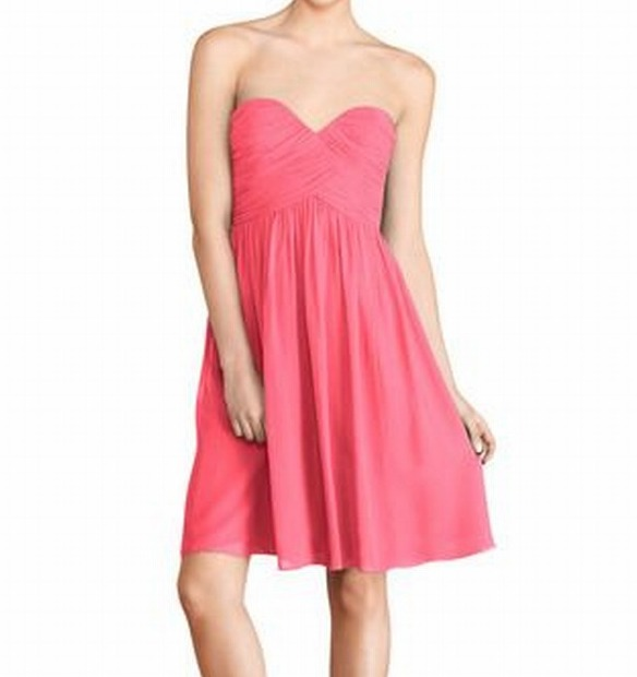 Donna Morgan NEW Hot Pink Womens Size 14W Plus Pleated Sheath Dress