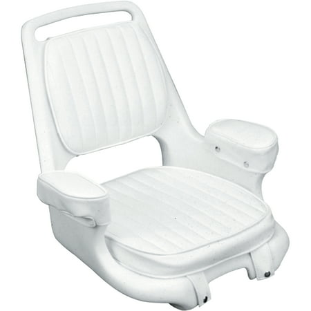 Offshore Star - Moeller Extra-Wide Offshore Seat with Padded Armrest, Cushion Set and Mounting Plate, White