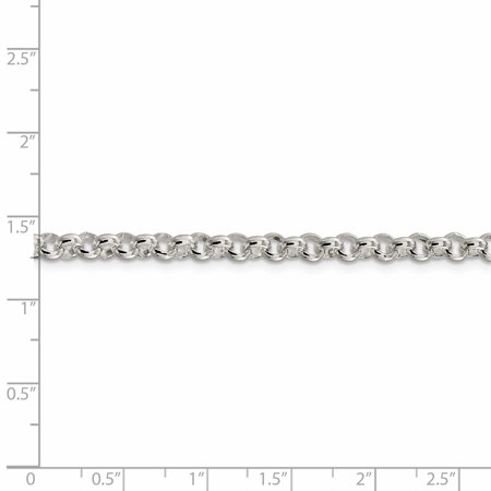 925 Sterling Silver 4.75mm Half Round Rolo Chain Necklace 18 Inch Pendant Charm Fine Jewelry For Women Valentines Day Gifts For Her - image 6 of 9