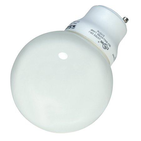 S8221 15 Watt (60 Watt) 740 Lumens Globe CFL Soft White 2700K GU24 Base Light Bulb, 10000 Average rated hours By Satco from - Globe Cfl