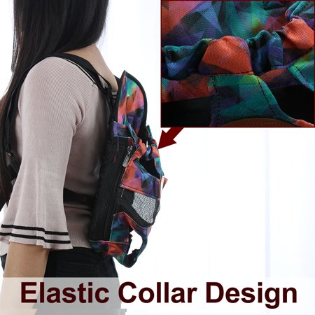 Pet Dog Carrier Front Chest Backpack Puppy Bag Outdoor L Size Colorful Pattern - image 6 of 7