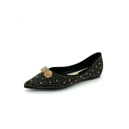 Womens Loafers Fashion Flat Heel Ladies Slip On Work Office School Shoes Size