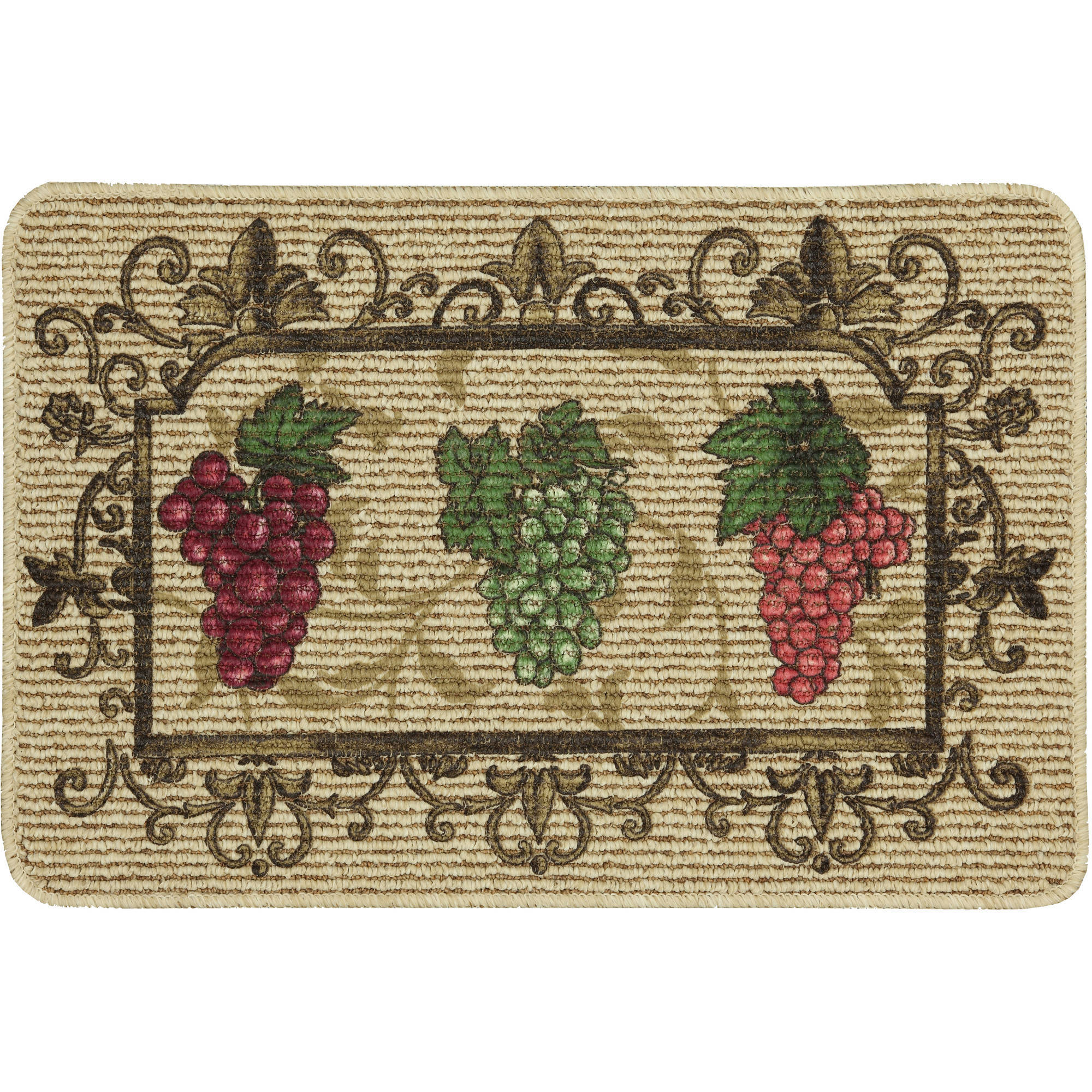 Mainstays Nature Trends Grape Bunches Printed Kitchen Mat 18 X 30