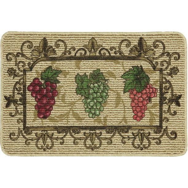 Mainstays Nature Trends Grape Bunches Printed Kitchen Mat 18 X 30 Walmart Com