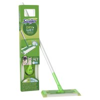 Swiffer Sweeper Pet Heavy Duty Dry + Wet All Purpose Floor Mopping and Cleaning Starter Kit Includes 1 Mop, 10 Refills