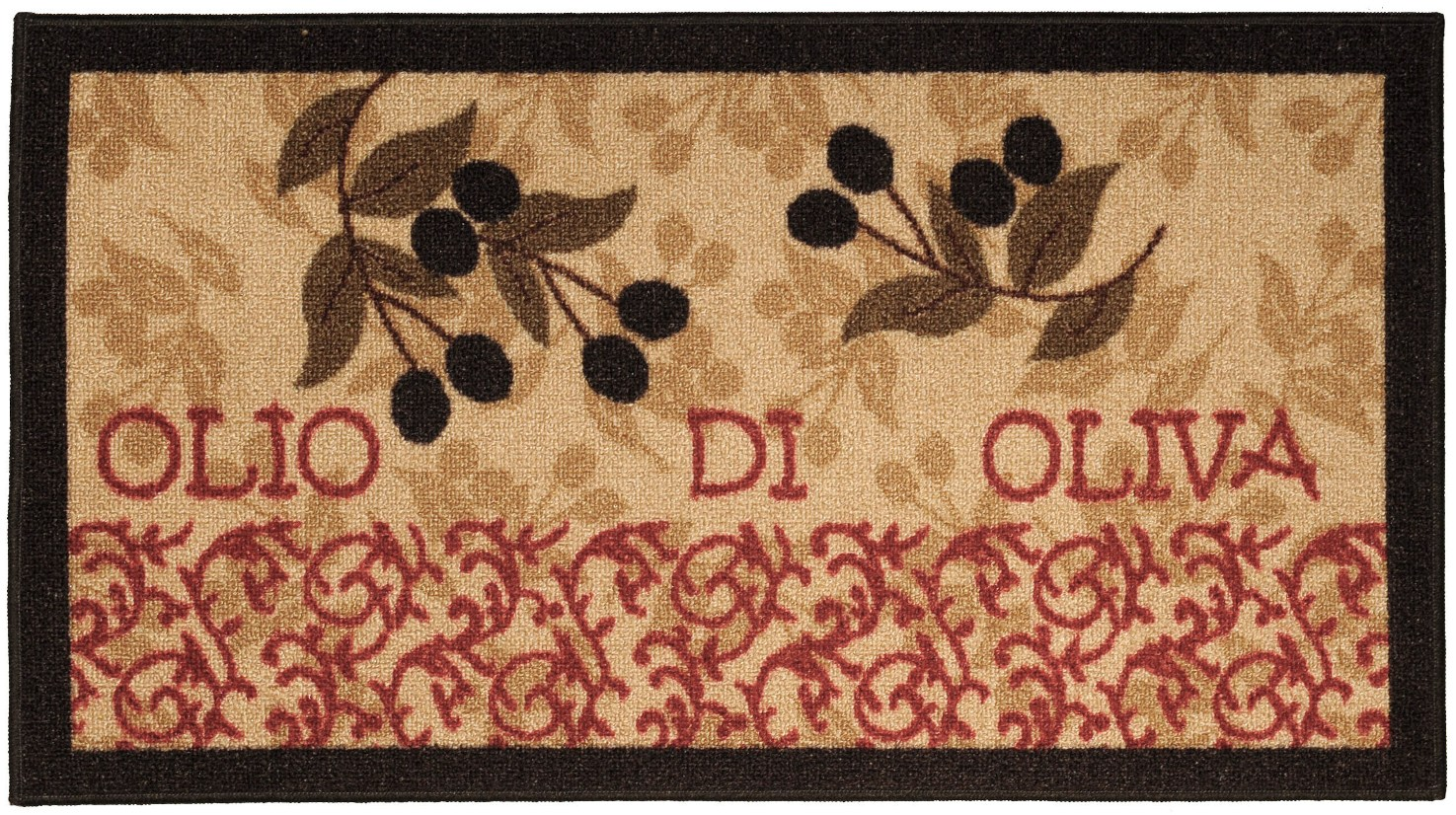 Maxy Home Cucina Collection CU-5579 (Non-Skid) Rubber Back Doormat 18-inch-by-31-inch... by Rugnur