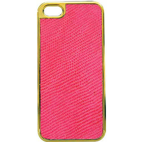 Tribeca Gold Trim Leather Hardshell Case for iPhone 5
