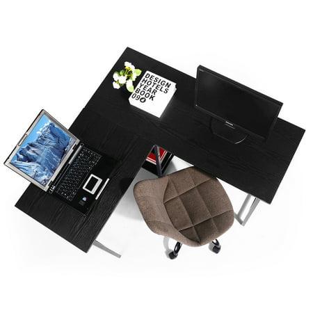FurnitureR L-Shape Executive Desk & Corner Desk Writing Desk Computer Desk For Home Office - image 8 of 8