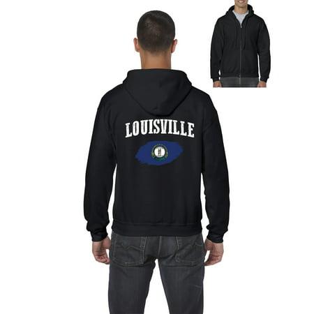 Louisville Kentucky Mens Hoodies Zip Up Sweater