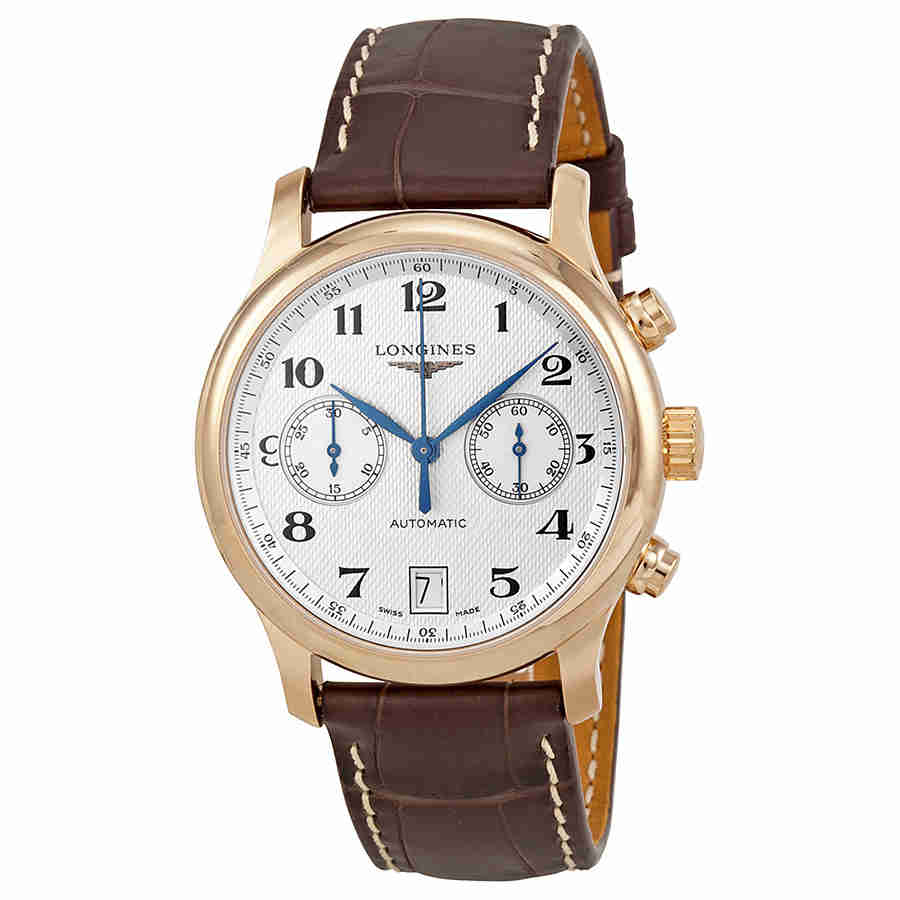 Longines Master Collection Silver Dial 18kt Rose Gold Bro...