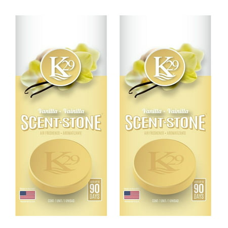 2 Pack K29 Scent Stone Pastillas Car Office Home Air Freshener Vanilla Fragrance