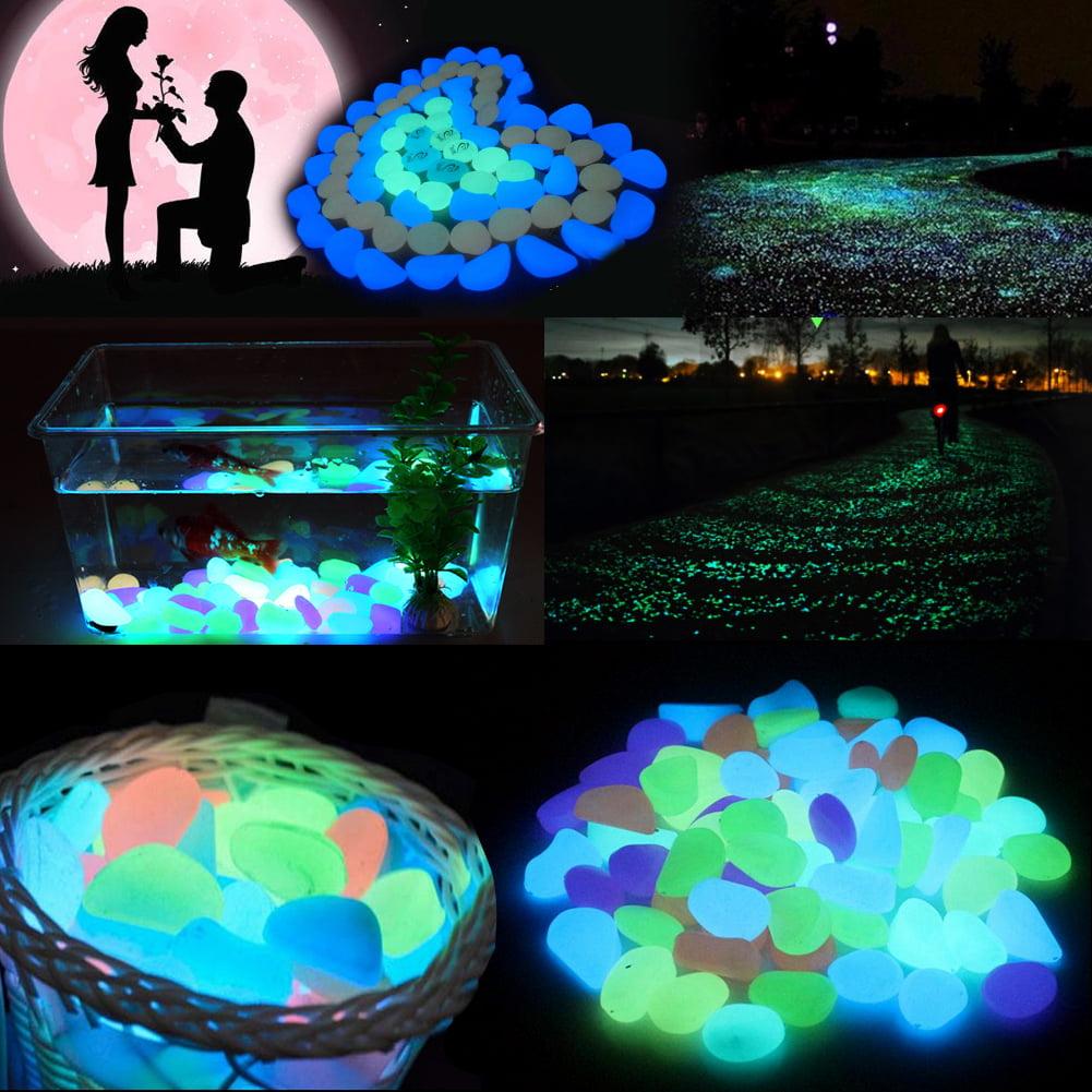 20pcs Colorful Artificial Fish Tank Luminous Stones Rock Aquarium Garden Road Decorations , aquarium stones, fish tank decoration stone