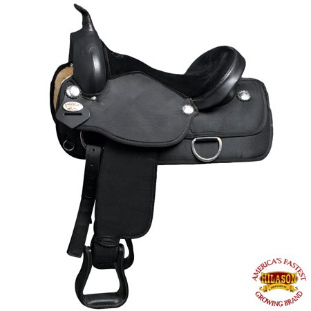 "16"" Western Cordura Horse Saddle Leather Flex Tree Trail Pleasure Hilason"