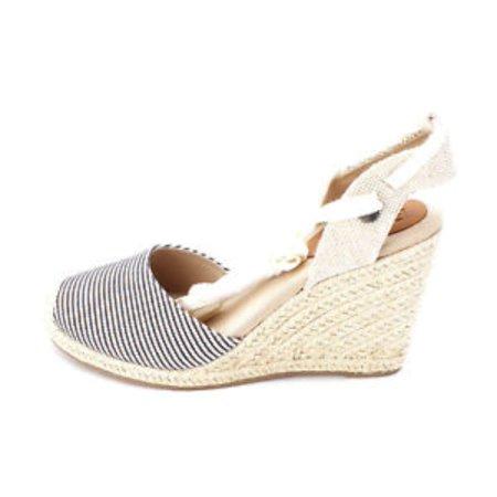 052bbd69e345 Roxy - Womens Bolsa Chica Cotton Closed Toe Casual Espadrille Sandals -  Walmart.com