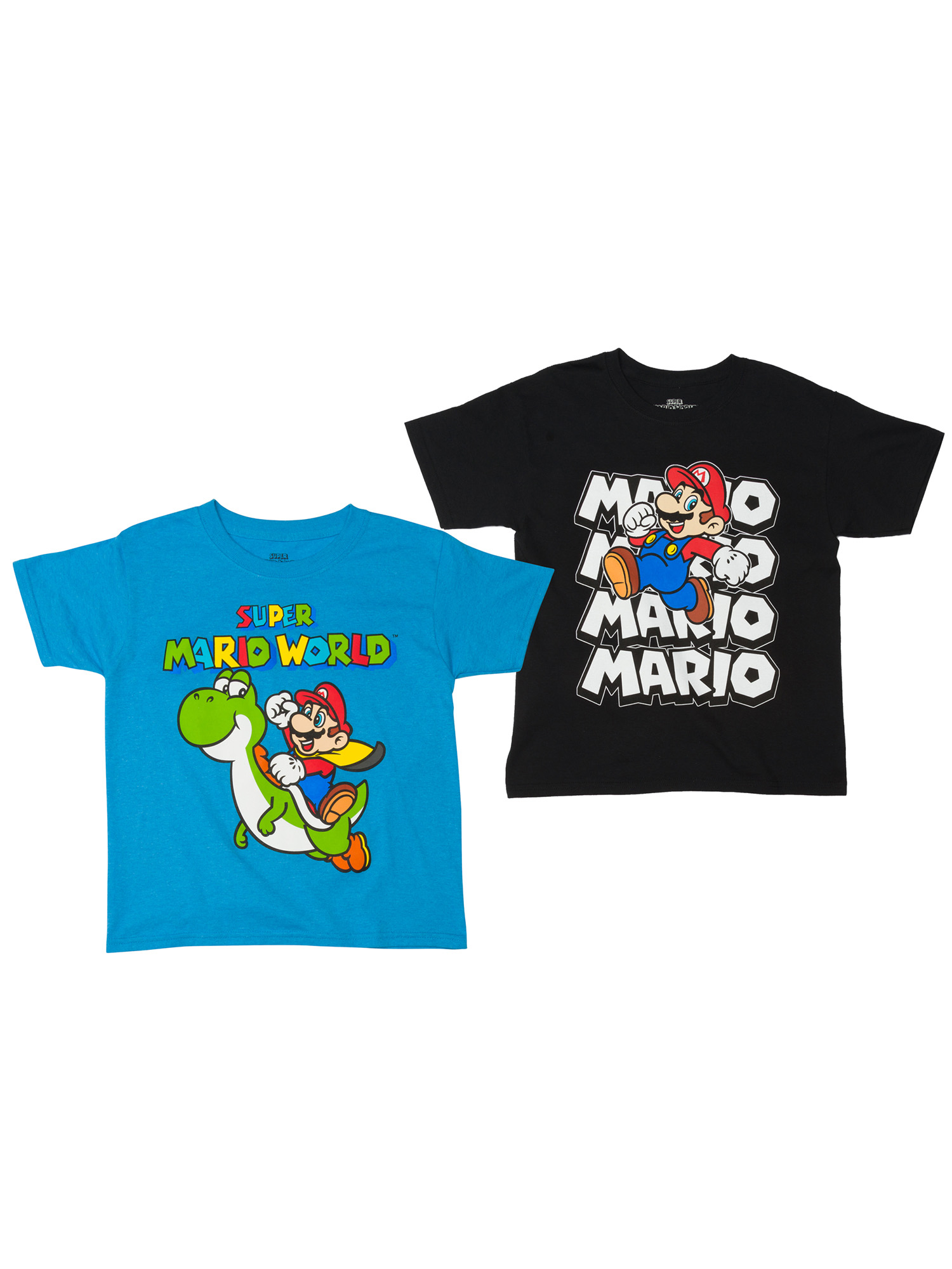 Super Mario Boys' Assorted Two Pack Short Sleeve T-Shirt Bundle