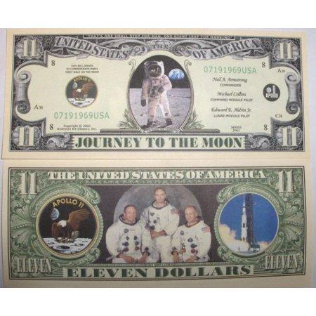 - Set of 10 Bills-Apollo 11 Commemorative 11 Dollar Bill, By Novelties Wholesale