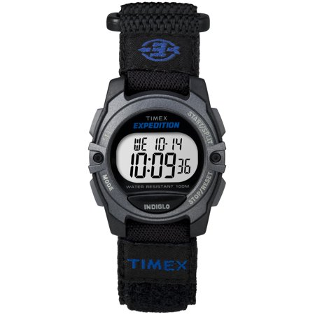 Unisex Expedition Digital CAT Mid-Size Watch, Black Fast Wrap Velcro Strap ()