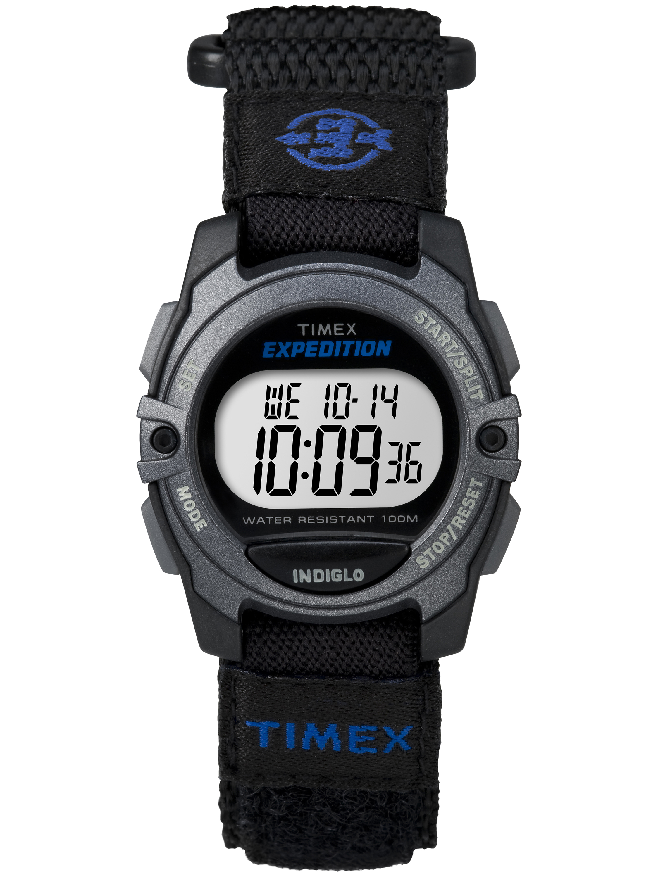 Unisex Expedition Digital CAT Mid-Size Watch, Black Fast Wrap Velcro Strap