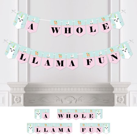 Whole Llama Fun - Llama Fiesta Party Bunting Banner - Party Decorations - A Whole Llama Fun](Fiesta Banner)