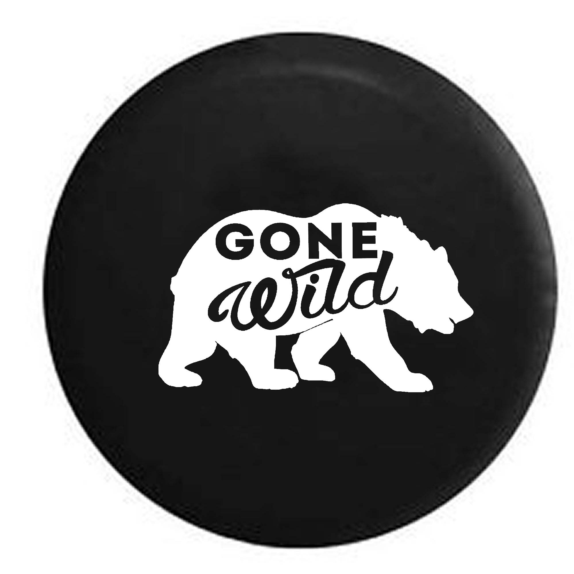 Gone Wild Bear Outdoors Spare Tire Cover Vinyl Black 27.5 in