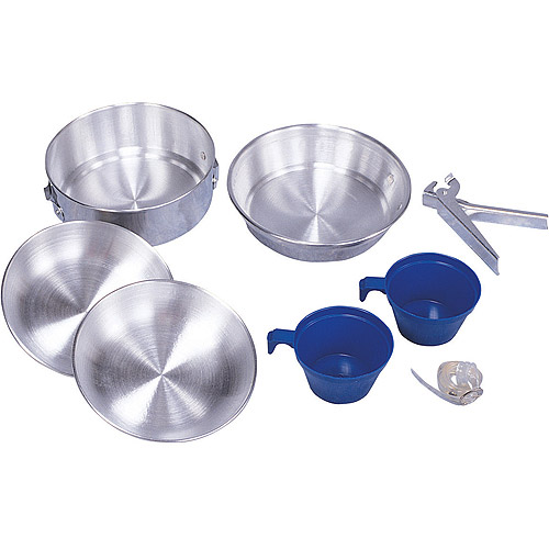 Mess Kit, 2-Man Aluminum, Polished