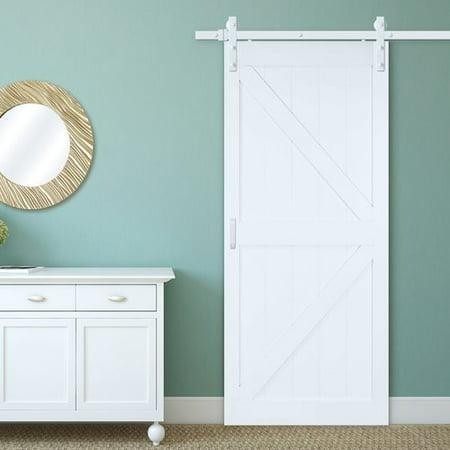 erias home designs bent strap flat track barn door hardware kit walmartcom. Interior Design Ideas. Home Design Ideas