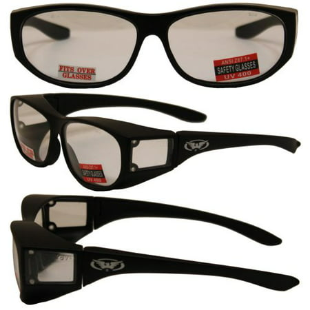 Escort Over Glasses Clear Lens Safety Glasses Has Matching Side Lens Meets ANSI Z87.1-2003 Standards for Safety
