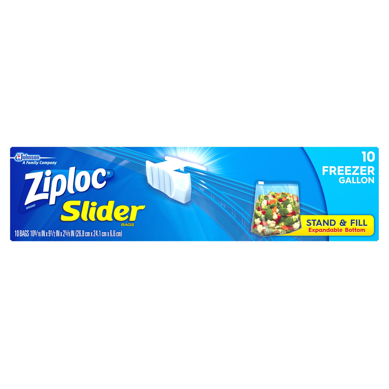 Ziploc Slider Freezer Gallon 10 Count