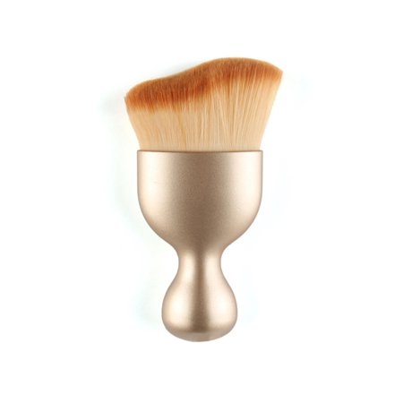 Ultra-Soft Face Kabuki Brush Contour Makeup Brush for Foundation Cream Loose Liquid Mineral Powder CCGE