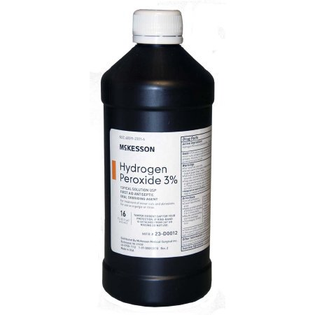 McKesson Hydrogen Peroxide 16 oz. Solution Bottle