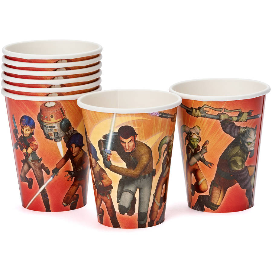 Star Wars Rebels 9 oz. Paper Party Cups, 8 Count, Party Supplies