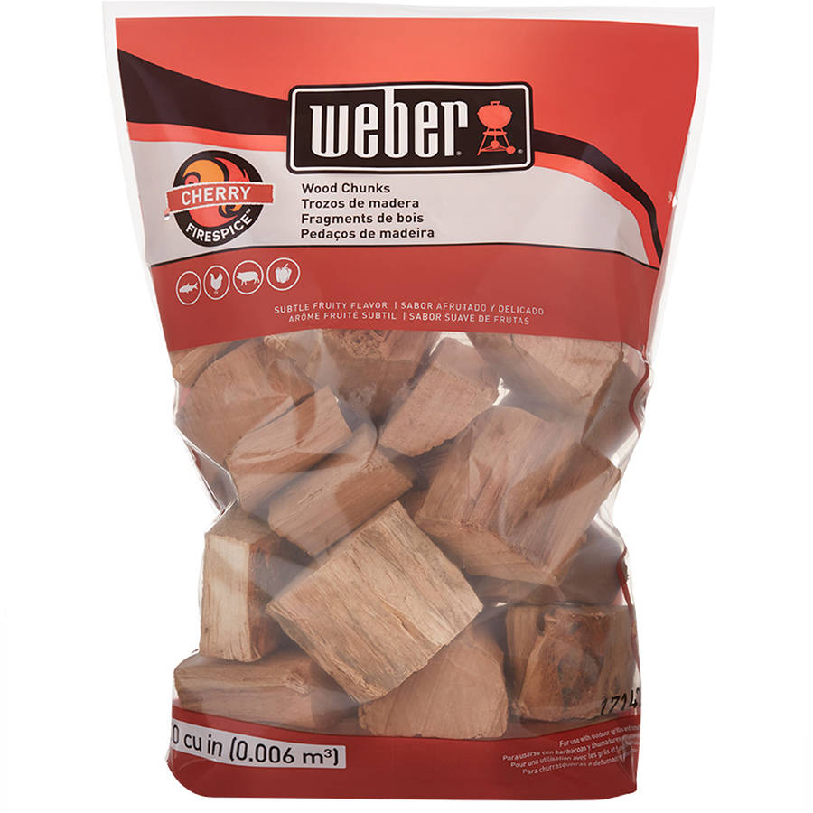 Weber Cherry Wood Chunks, 350 Cu. In. bag