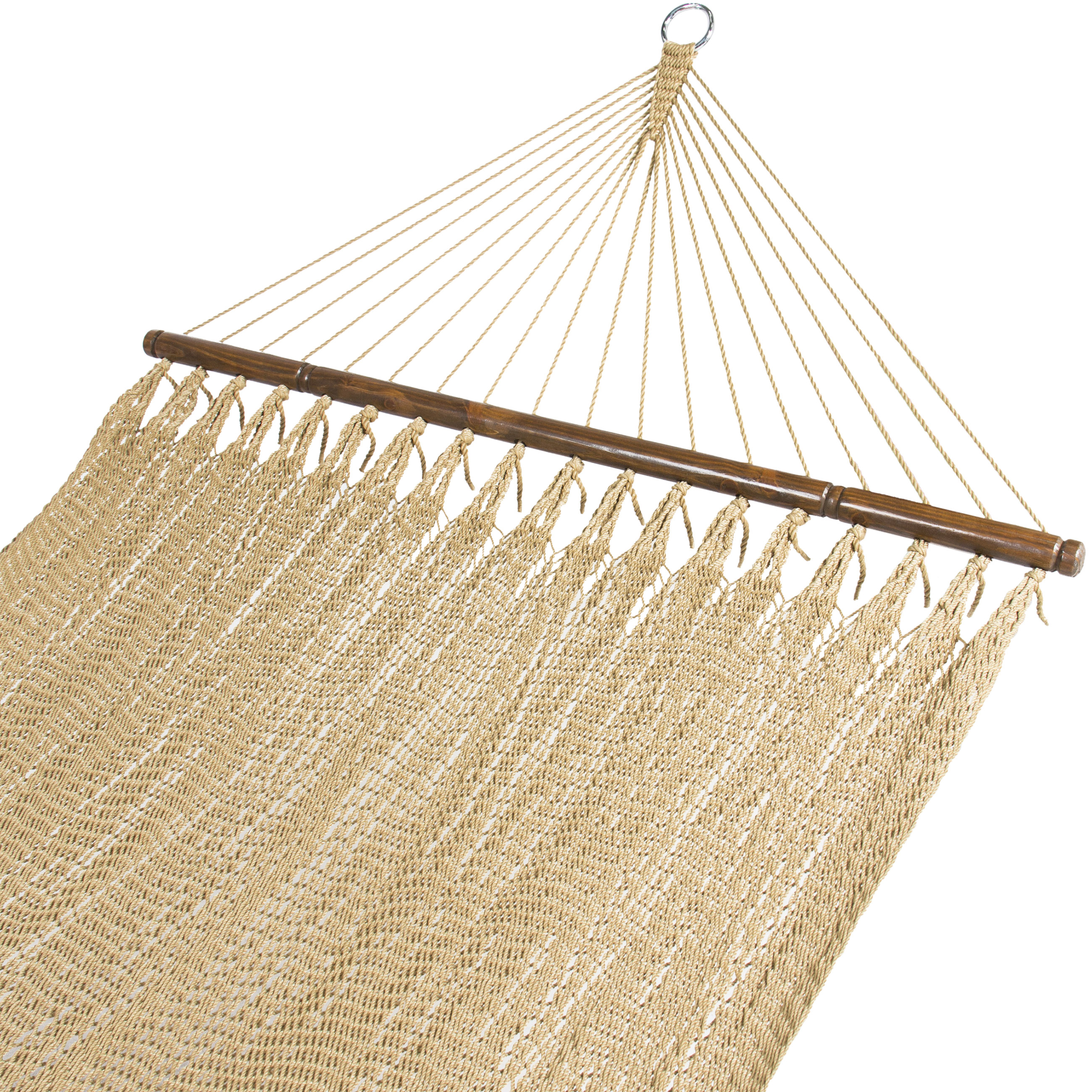 Best Choice Products Caribbean Style Woven 2-Person Double Hammock w  Metal Rings and Chains Brown by Best Choice Products