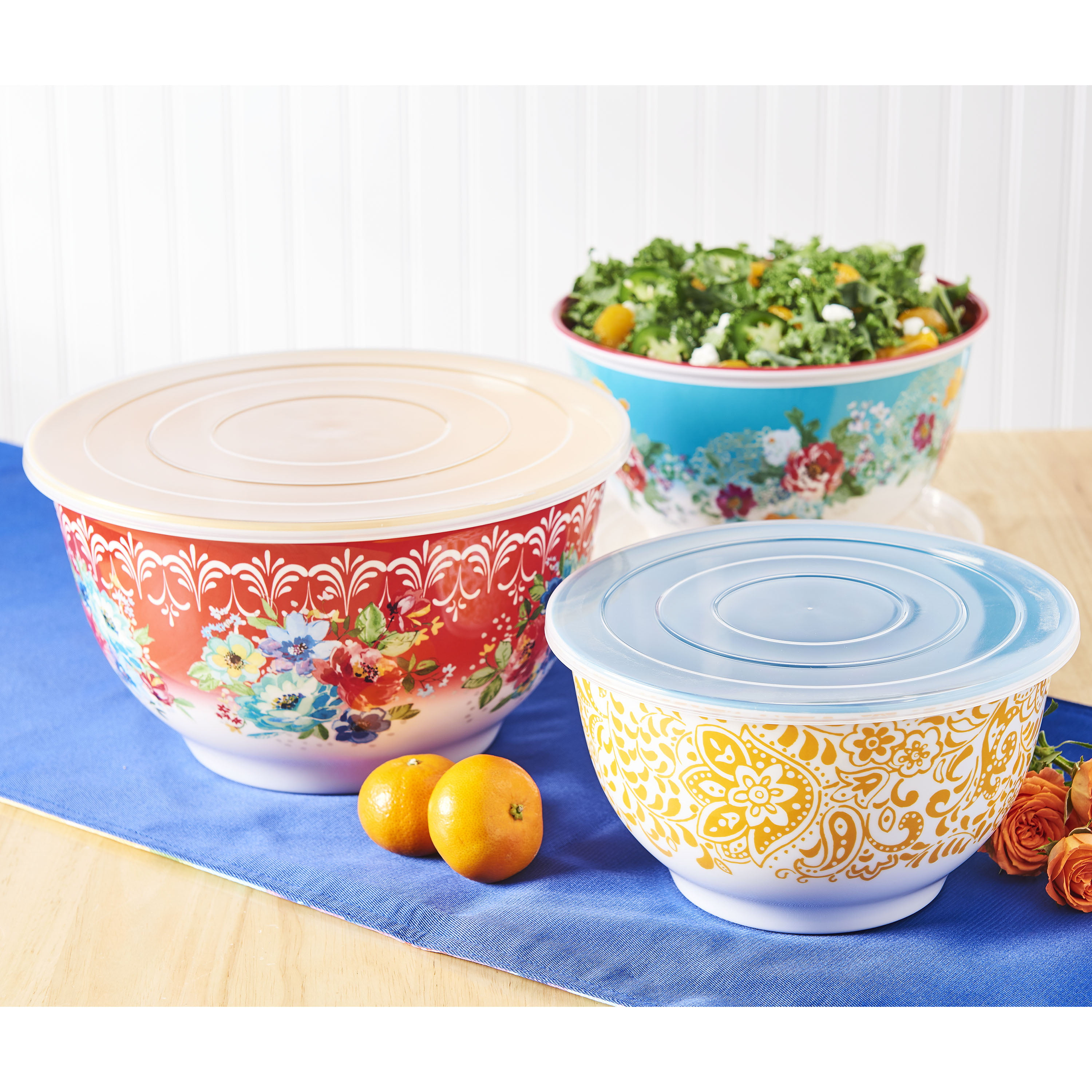 The Pioneer Woman Melody Bowl Set, 6 Piece