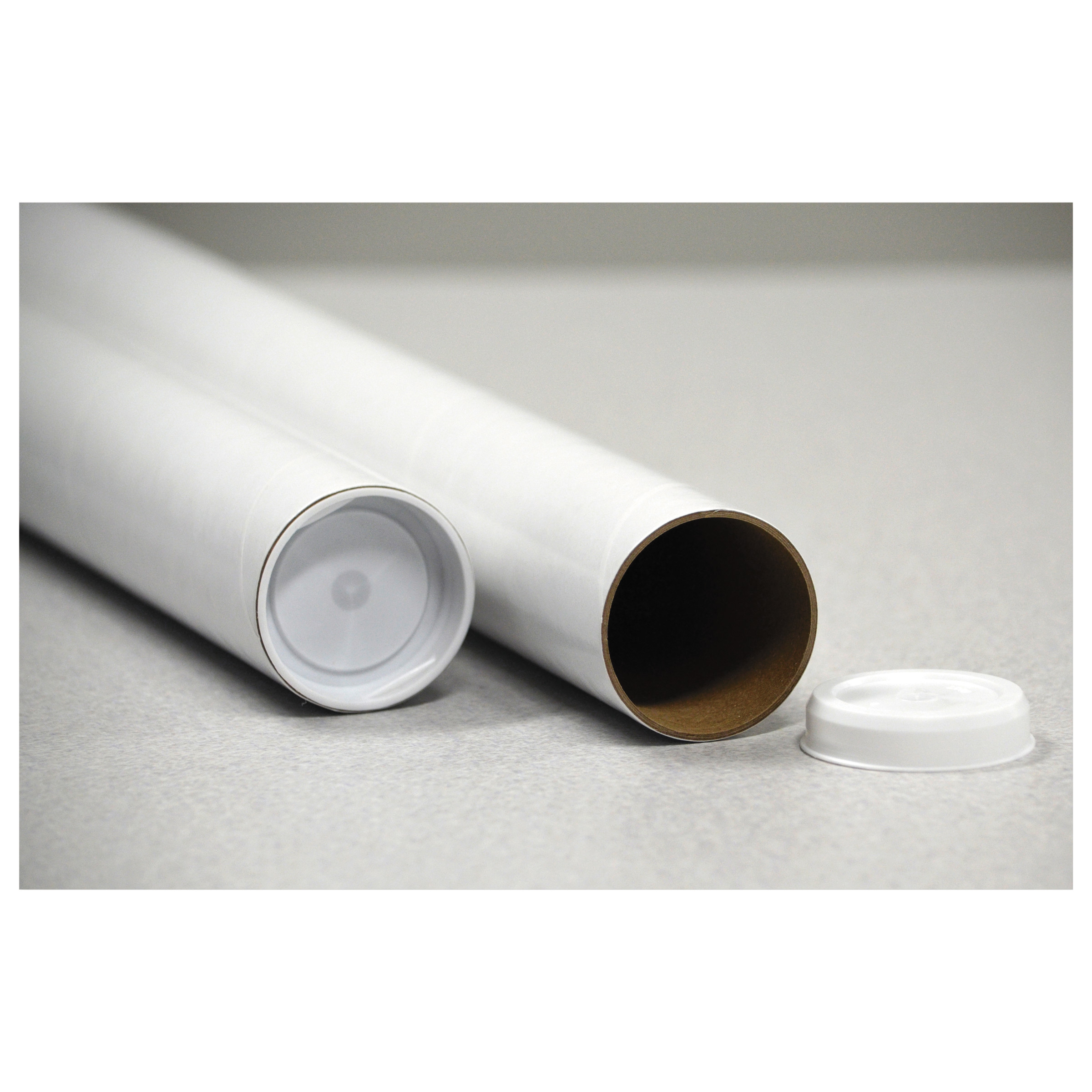 """General Supply Round Mailing Tubes, 15l x 2"""" dia., White, 25/Pack -UFSRRTW215"""