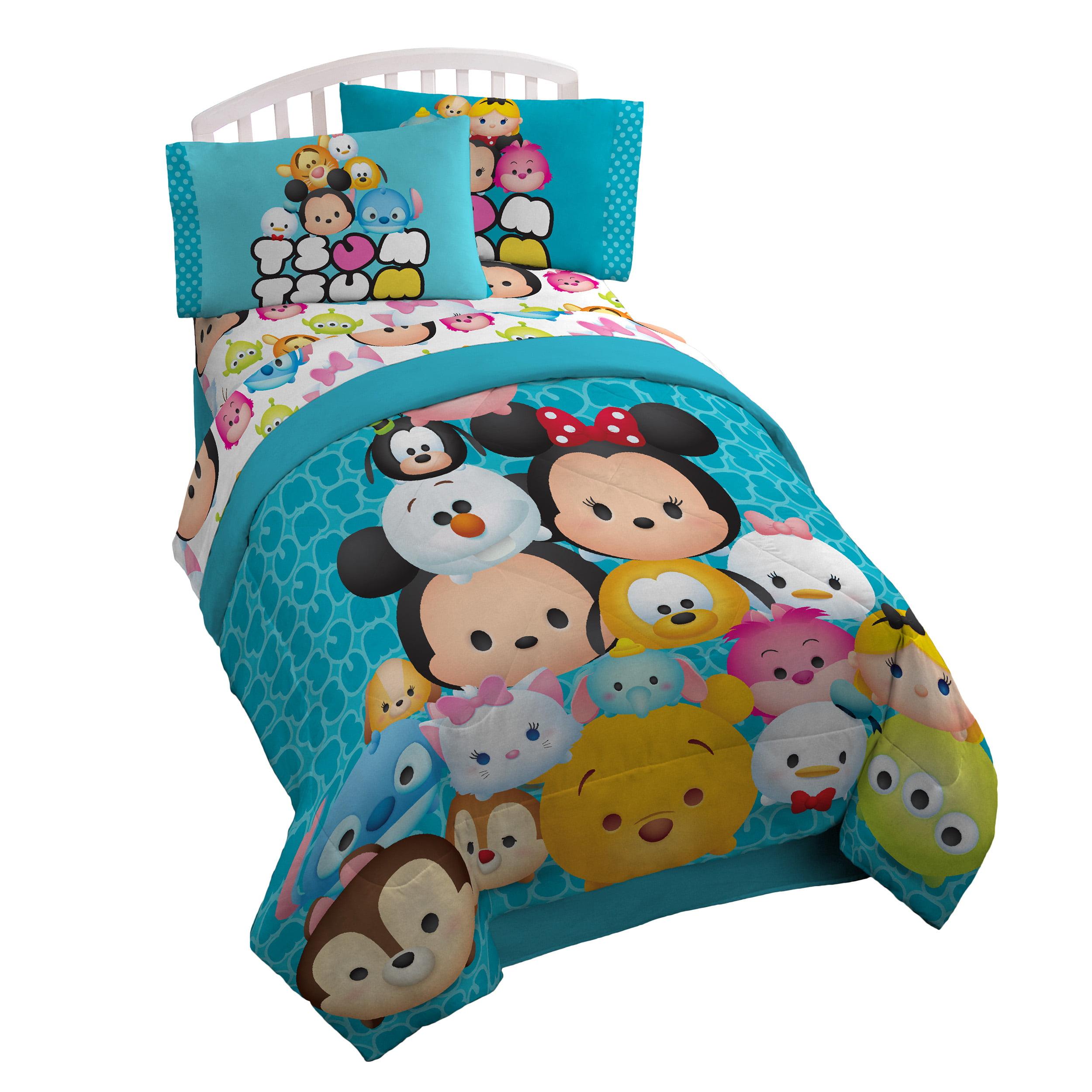 Disney Tsum Tsum Mash Up Teal Twin/Full Comforter