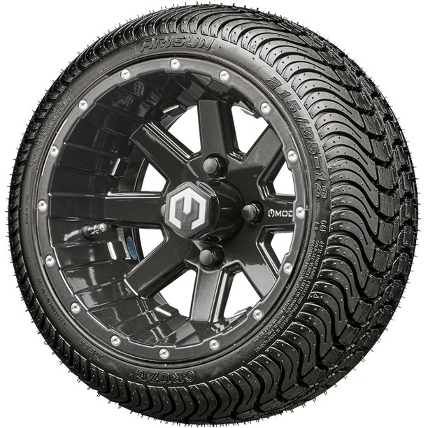 "MODZ® Assault Golf Cart 12"" Wheels and Tires - Black Ball ..."