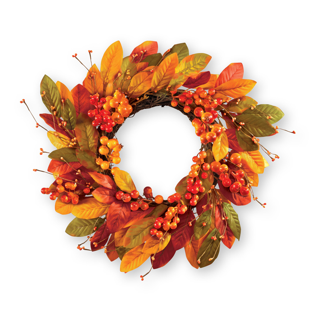Leaves & Berries Fall Outdoor Wreath