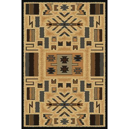 Designer Home Urban Area Rugs 040 38572 Southwestern Lodge Grey Geometric Native American Icons Indian Rug