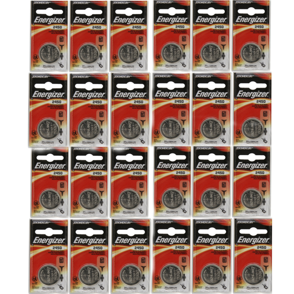 24 Pack Energizer CR2450 ECR2450 CR 2450 3V Lithium Coin Cell Button Battery by
