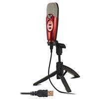 U37 USB Large Diaphragm Cardioid Studio Condenser Microphone, Red