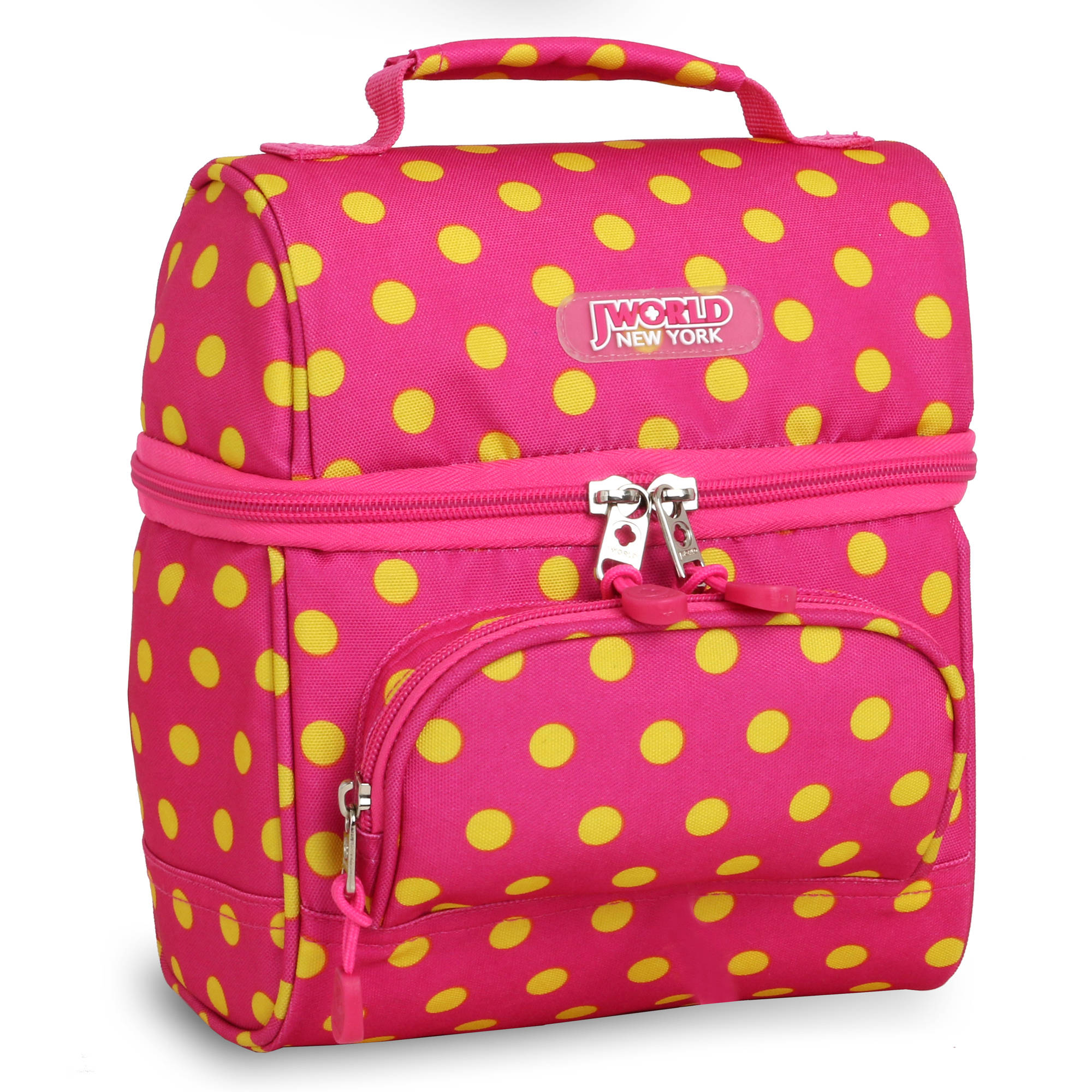 J World Corey Lunch Bag, Pink Buttons