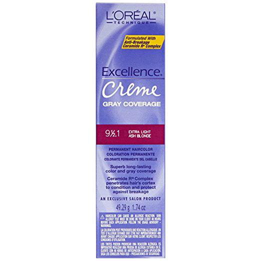 L'oreal Excellence Creme Permanent Hair Color, Extra Light Ash No.9 1/2.1, 1.74 Oz
