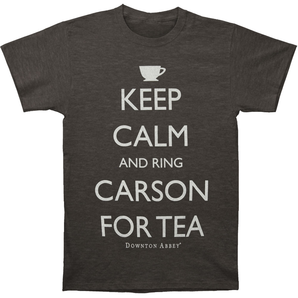 Downton Abbey Men's  Ring Carson For Tea T-shirt Heather Charcoal