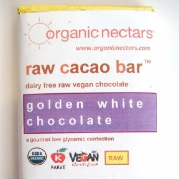 Organic Nectars Golden White Raw Cacao Bar Case Of 6