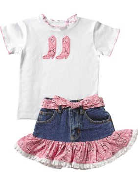 9d64c490b1273 Product Image Kiddie Korral Toddler-Girls  Cowgirl Boot Bandana Skirt Set -  15