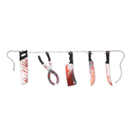 Bloody Knife (6 Foot Bloody Knives Halloween Party Haunted Banner Sign Decoration, cardboard By)