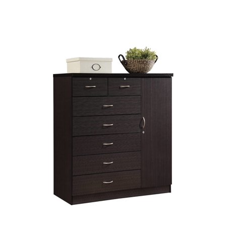 Hodedah 7-Drawer Jumbo Dresser, Chocolate ()